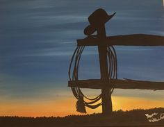 A personal favorite from my Etsy shop https://www.etsy.com/listing/262434345/cowboy-sunset