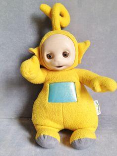 1998 Teletubbies La La Yellow Plush Talking Doll
