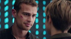 Theo James as Four! Divergent Four, Divergent Hunger Games, Tris And Four, Divergent Trilogy, Divergent Insurgent Allegiant, Teenage Movie, The Way He Looks, Veronica Roth, Theo James