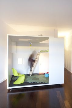 Cool room within a room bed for kids with loft