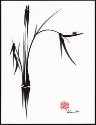 chinese brush painting - bamboo