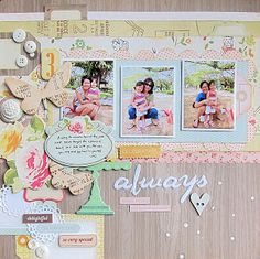Gorgeous LO by Jeanette Lee from her blog (epitome.: Big fan of the pastels)