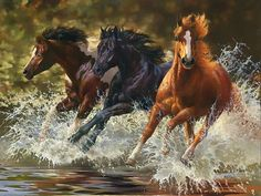 horse painting by Bonnie Marris Pretty Horses, Horse Love, Beautiful Horses, Animals Beautiful, Cavalo Wallpaper, Wild Horses Running, Horse Artwork, Horse Drawings, Clydesdale
