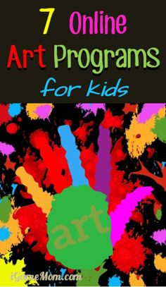 7 online art programs from art museums and art teachers, great for kids to learn art at home at their own pace.