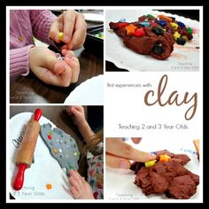 Teaching 2 and 3 Year Olds: How to introduce clay to preschoolers.