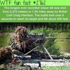 The longest recorded sniper kill - WTF fun facts