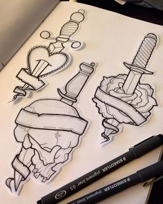 Available designs (words or phrases can be added) ❣ #knives #rose #skull…