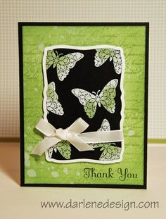 cardmaking video tutorial: monochromatic card ... embossing with two colors of embossing powder ... great card!