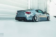 Scion FR-S with Rocket Bunny body kit and a major drop