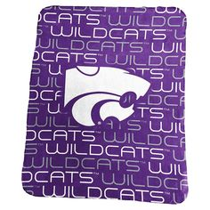 Logo Brand Kansas State Wildcats Classic Fleece Blanket, Purple