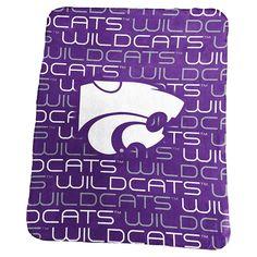 Logo Brand Kansas State Wildcats Classic Fleece Blanket, Purple