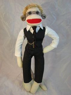 Sock Monkey in Vested Suit by sockmonkeyfun, via Flickr