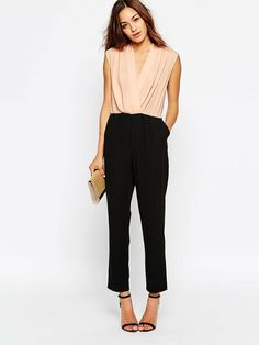 ASOS Jumpsuit with Contrast Wrap Front