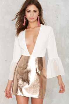 Steel Got It Foil Dress - Clothes | Going Out | All Party