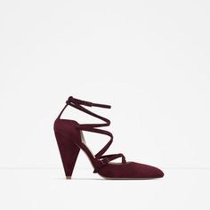 Image 1 of POINTED LEATHER HIGH HEEL SHOES WITH STRAPS from Zara