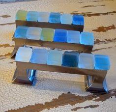 10 beach glass pulls Cabinet hardware Hardware and Door pulls