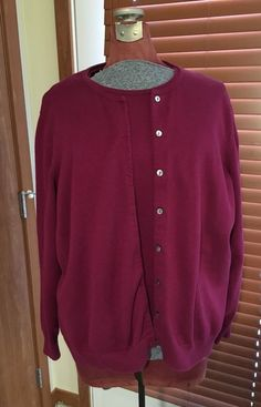 Lands End Cardigan Sweater Twinset Purple Womens Plus Size 3X 3XL 24W 26W EUC #LandsEnd #Twinset #Sweater #Cardigan