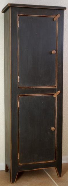 Primitive Rustic Antique Style Tall Chimney Storage Cupboard Cabinet. $250.00, via Etsy.
