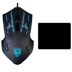 Chuột chơi game có dây Mouse gaming SCH-02X6 (Đen) 1 bàn di chuột