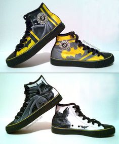 Batman Shoes. Id rock these