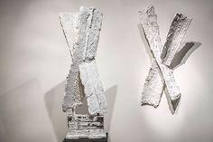 Joseph Cals - Sculptures 'Crossing' – Plaster / steel – 105 x 35 x 50 cm 'Crossing' – Plaster / steel – 110 x 60 x 38 cm