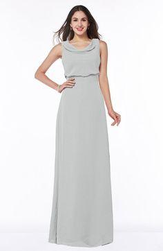 Platinum Classic A-line Jewel Sleeveless Zipper Draped Plus Size Bridesmaid Dresses - ColorsBridesmaid