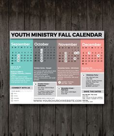 freebie friday free fall youth ministry calendar youth.html