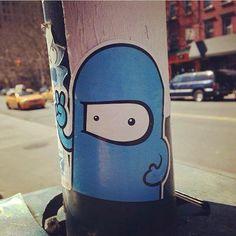 bc86a88ed7abeb Sticker art on the streets of New York. Graffiti Wall Art