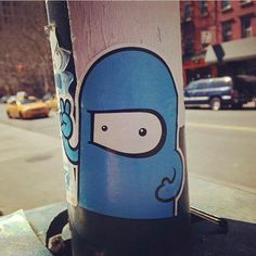 Sticker art on the streets of New York.