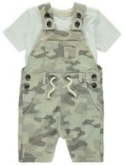2 Piece Camouflage Dungaree and T-shirt Set
