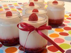 7gramas de ternura: Iogurtes com doce de framboesa e lima