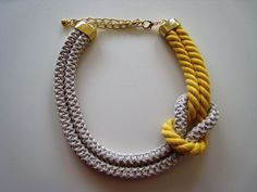 Image result for hand knit necklace