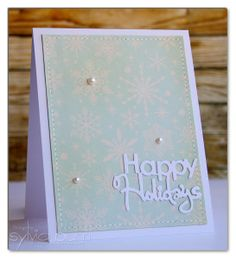 ...{Sylvias Stamping Place}... Happy Holidays Christmas Card by Sylvia Blum