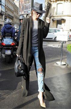 Kendall Jenner Duster Coat via @WhoWhatWear