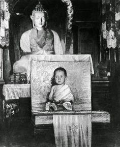 The Dalai Lama at age 2.