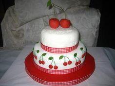 Retro Vintage Birthday Cake, totally doable and super cute Retro Birthday Parties, Vintage Birthday Cakes, Beautiful Cakes, Amazing Cakes, Religious Cakes, 21st Cake, Cherry Baby, Cake Decorating Tips, Celebration Cakes