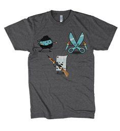 1f7afa523 Angry Rock paper scissors #rockpaperscissors #funnytshirts Rock Paper  Scissors, Cute Shirts, Funny