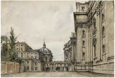 Alexandre Benois -The gates between San Pietro Cathedral and the Ufficio Scavi, Rome.