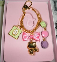 49f755c01faf Laduree  amp  Hello kitty ( macaroon strap charm key ring ) box set Limited  Laduree