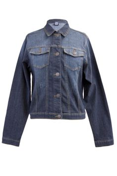 Classic Dark Blue Denim Jacket