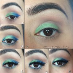 Step by step on how to create this look. I used Urban decay electric palette for this look.