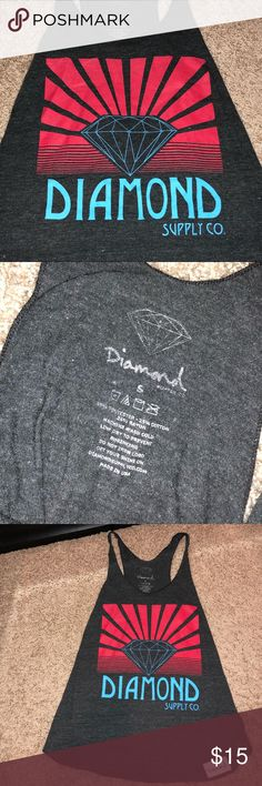 Diamond Supply Tank Top Thin material, in great condition. Authentic, purchased from Zumiez. Fits true to size. Diamond Supply Co. Tops Tank Tops