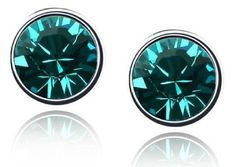 Teal Austrian Crystal Earrings