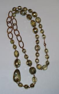 """Vintage Chunky """"Ice"""" Necklace - 36"""" Long - FREE Shipping!"""