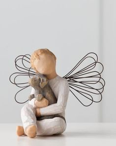 Angel of Comfort - Willow Tree Figurine - The Shabby Shed Sentiment: Offering an embrace of comfort and love