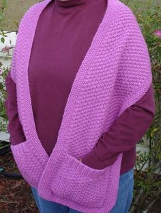 Free Knitting Pattern for Double Moss Stitch Shawl