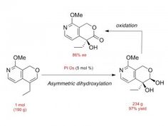 One mol-scale synthesis of an intermediate of the anticancer drug camptothecin using a new immobilized osmium catalyst (PI Os). © Shū Kobayashi. #UTokyoResearch