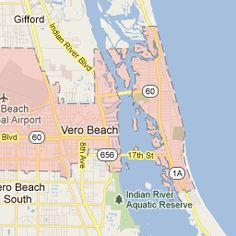 Map of Vero Beach