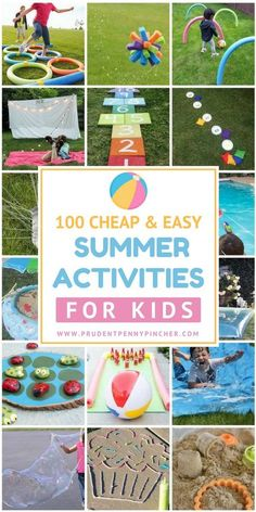 100 Cheap and Easy Summer Activities for Kids – * Saving Money * – Kids Craft & Activities Camping Activites For Kids, Summer Camp Activities, Outdoor Activities For Kids, Craft Activities, Summer Games, Easy Games For Kids, Diy Birthday Activities, Kids Camp Games, Kid Activites