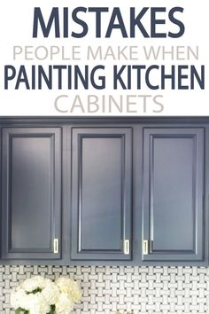 Painting your kitchen cabinets? Learn from other what to do, and what NOT to do! A few minutes reading will give you a better finished project! kitchen 5 Mistakes People Make When Painting Kitchen Cabinets - Painted Furniture Ideas Diy Kitchen Cabinets, Kitchen Redo, Kitchen And Bath, Kitchen Furniture, New Kitchen, Kitchen Dining, Furniture Ideas, Diy Kitchen Ideas, Annie Sloan Kitchen Cabinets